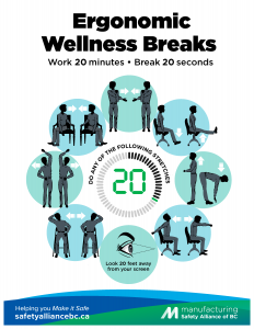 Ergonomic Wellness Breaks Poster