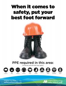 PPE Awareness Poster